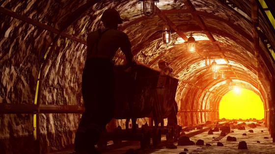 Mine tunnel wallpaper