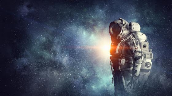 Astronaut fantasy space art wallpaper