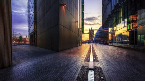 Tower Bridge street view (London) wallpaper