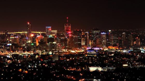 Brisbane skyline at night wallpaper