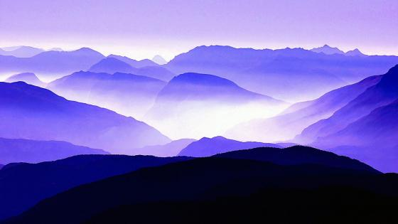 Outline of mountains wallpaper