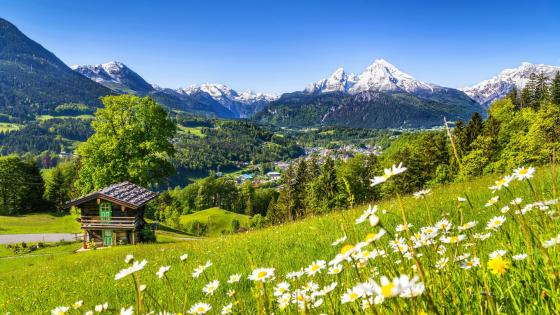 Berchtesgaden at spring (Bavaria, Germany) wallpaper