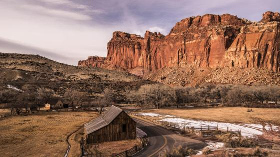 Capitol Reef National Park, Fruita Barn wallpaper