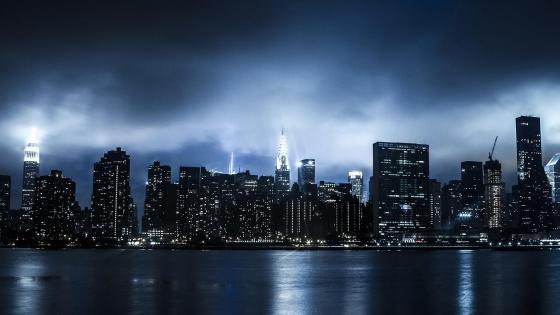 Dark New York skyline wallpaper
