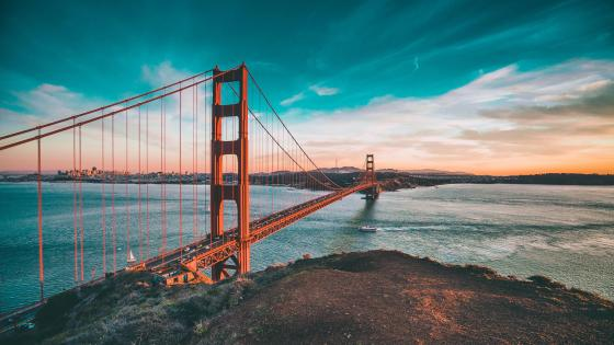 Golden Gate Bridge and San Francisco Bay area wallpaper