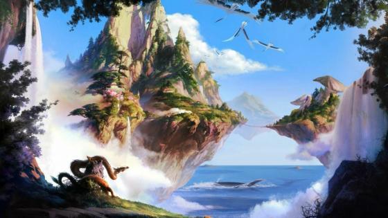 Fantasy nature landscape wallpaper