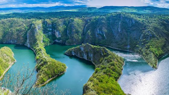 Uvac Canyon (Special Nature Reserve Uvac, Serbia) wallpaper