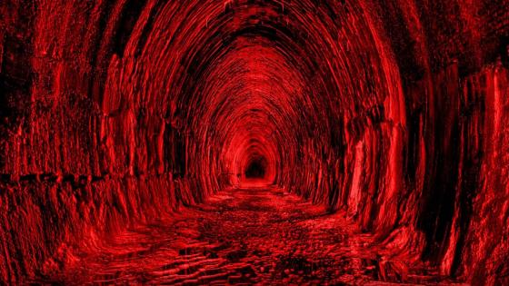 Blood tunel wallpaper