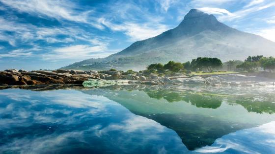 Lion's Head reflection (Cape Town) wallpaper