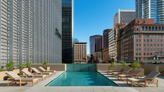 The Westin Phoenix Downtown terrace pool wallpaper