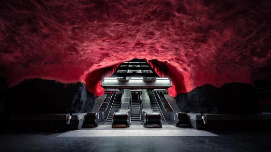 Solna Centrum station on the Stockholm Metro wallpaper