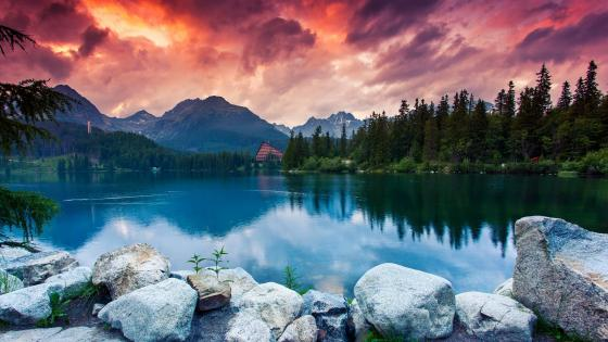 Strbske Pleso in the High Tatras (Slovakia) wallpaper