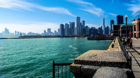 Lake Michigan & Chicago wallpaper