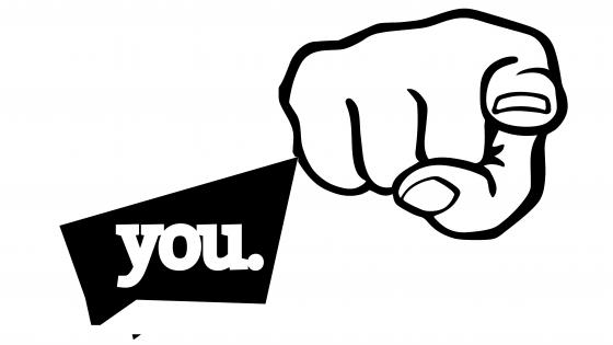 Finger pointing at you wallpaper