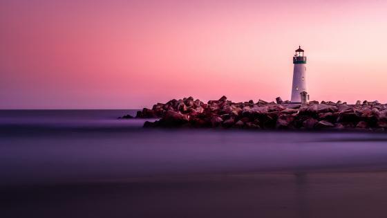 Santa Cruz Breakwater Lighthouse (Walton Lighthouse) wallpaper
