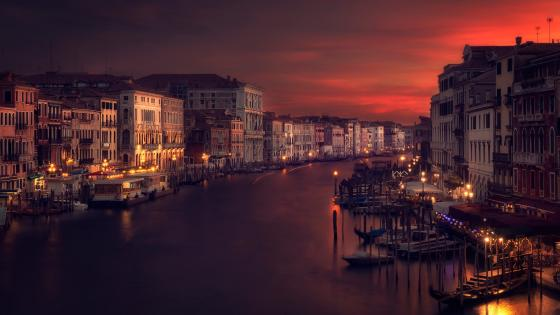 Grand Canal Sundown wallpaper