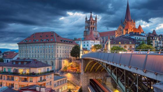 Lausanne Cathedral (Switzerland) wallpaper
