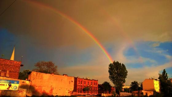 Rainbow in Zabrze wallpaper