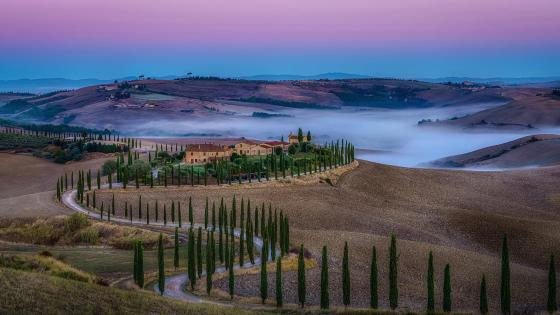 Tuscan autumn wallpaper