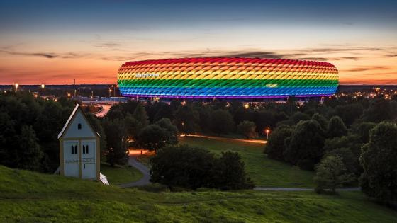 Allianz Arena in Rainbow Colours wallpaper