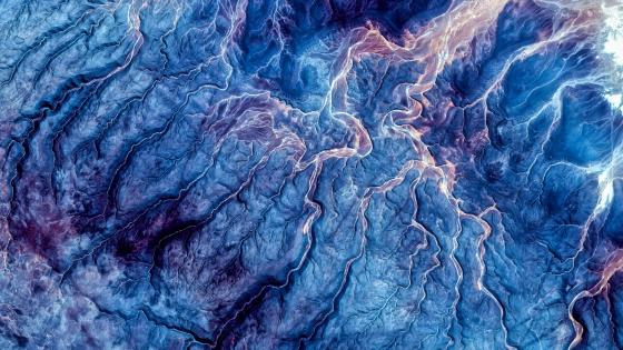 Frigid fields from the space wallpaper
