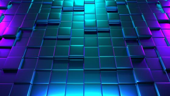 3D cubes pattern wallpaper