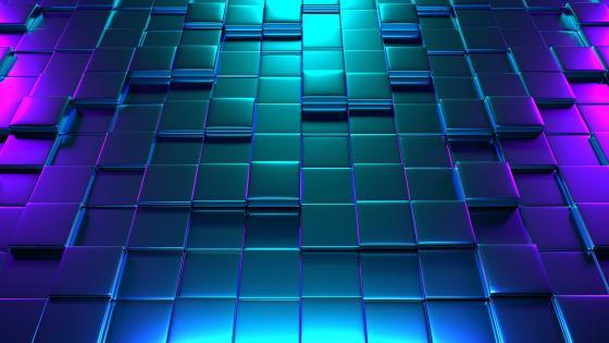 3D cubes pattern wallpaper
