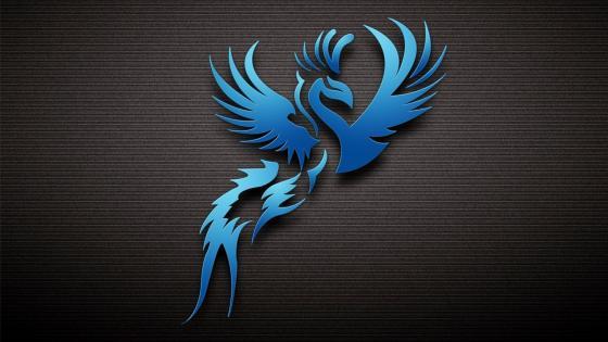 Blue bird - Abstract art wallpaper