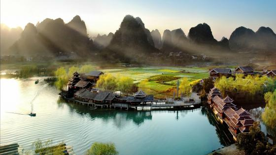 Karst Mountains of Guangxi wallpaper