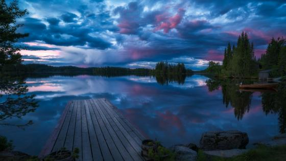 Ringerike blue hour wallpaper