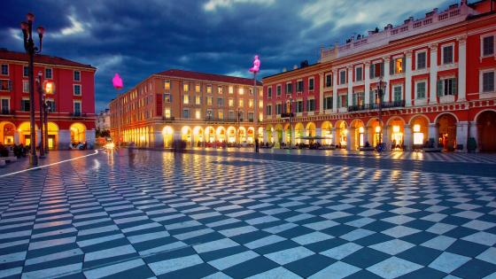 Place Massena  main square in Nice, France wallpaper