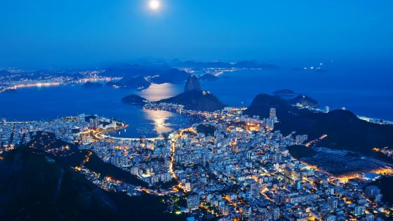 Corcovado at night wallpaper