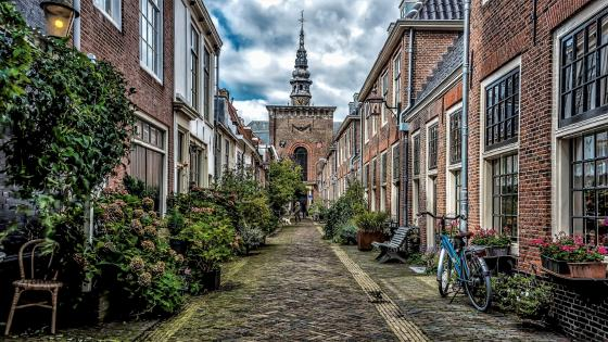 Haarlem street view, Netherlands wallpaper