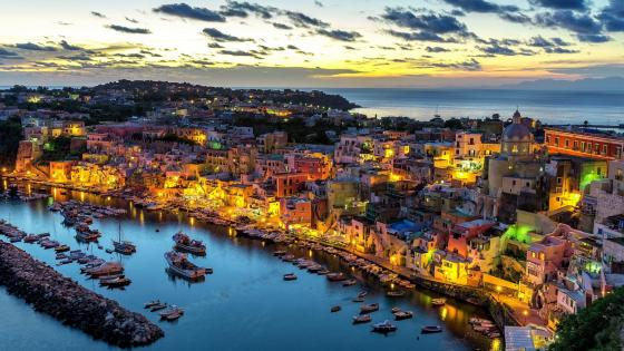 Procida island and the Bay of Naples wallpaper