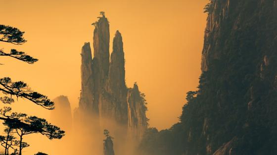 Huangshan mountain range wallpaper