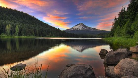 Mount Hood from Trillium Lake wallpaper