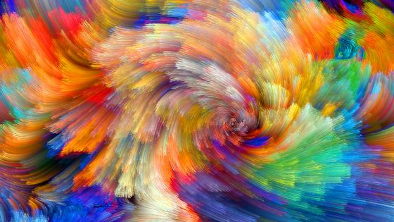 Vibrant colorful abstract wallpaper