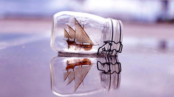 Toy Ship In Bottle wallpaper