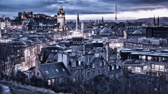 Edinburgh view from Dugald Stewart Monument wallpaper