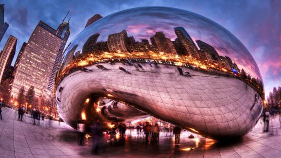 Cloud Gate (The Bean) wallpaper