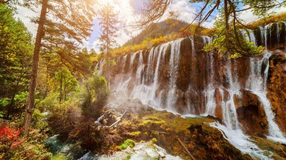Pearl Shoal Waterfall (Jiuzhaigou Nature Reserve) wallpaper