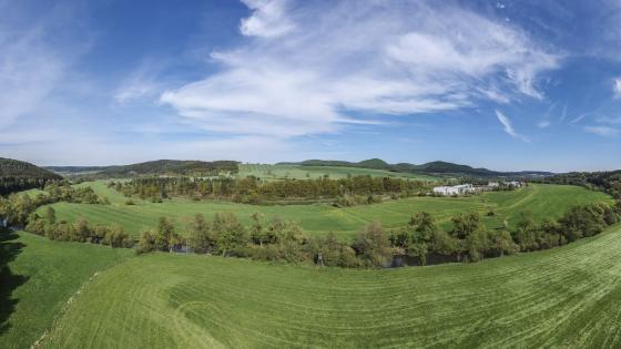 Grassland landscape wallpaper