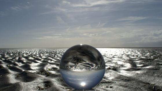 Glass Crystal Ball wallpaper