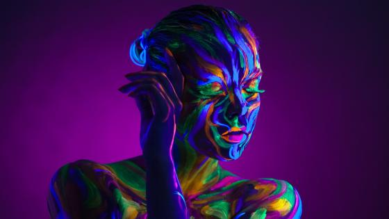 Colorful body painting wallpaper