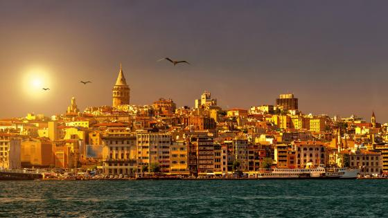 Golden Istanbul wallpaper