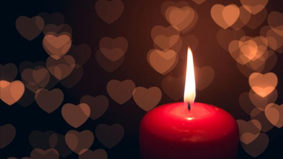 Love Candle wallpaper