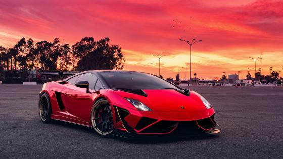 Red Lamborghini Gallardo wallpaper
