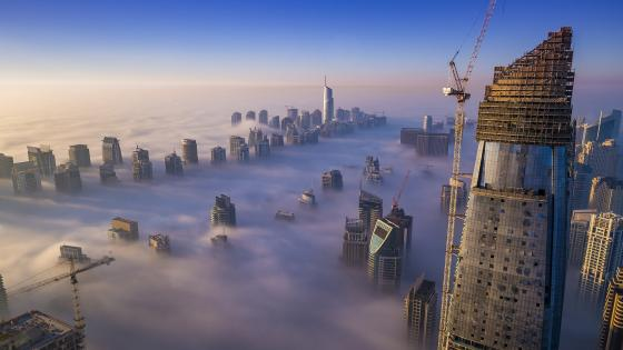 Misty Dubai wallpaper