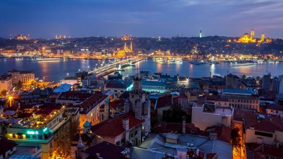 Golden Horn and Galata Bridge wallpaper