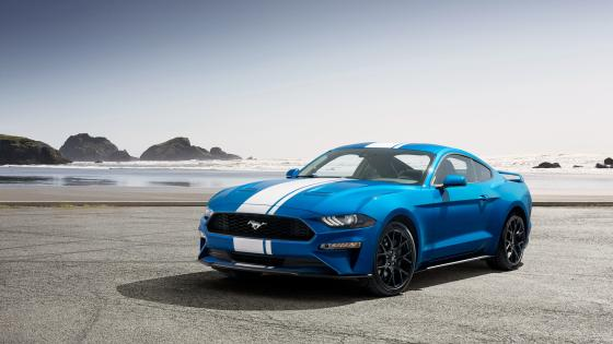 Blue Ford Shelby Mustang wallpaper